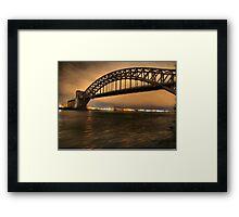 The Hellgate Bridge Framed Print