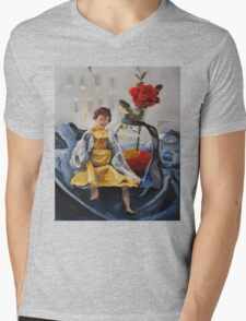Doll by the Window Mens V-Neck T-Shirt
