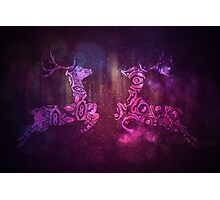 Ornamental Deer Background 3 Photographic Print