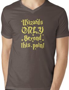 Wizards only beyond this point Mens V-Neck T-Shirt