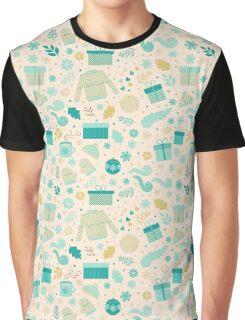 Christmas & New Year Pattern Graphic T-Shirt