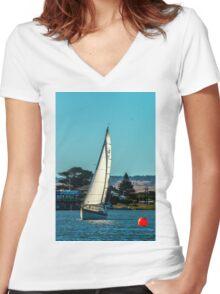Goolwa Regatta Yacht Club Christmas Twlight Races Women's Fitted V-Neck T-Shirt