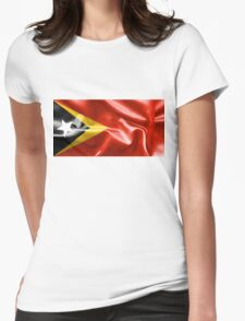 East Timor Flag Womens Fitted T-Shirt
