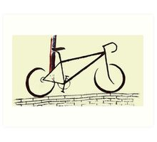 Cycling on The Wall Art Print