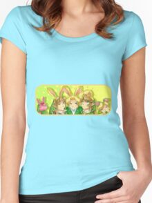 Legend of Zelda: Bunny Hoods Women's Fitted Scoop T-Shirt