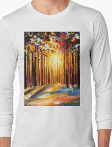 Leonid Afremov - Trees Long Sleeve T-Shirt