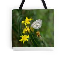 Butterfly on the dandelion Tote Bag