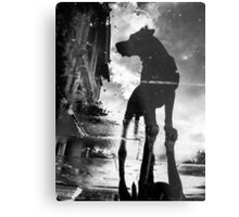 My #dog filby reflected in a puddle today taken on my #galaxynexus Metal Print