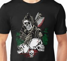 Death With Ax Blood and Skulls Unisex T-Shirt