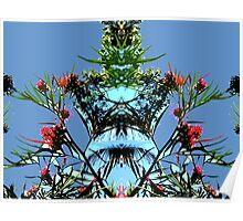 Blue sky and plant, mirror Poster