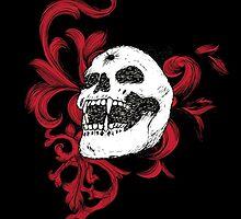 Vampire Skull With Silver Bullet Hole by pjwuebker