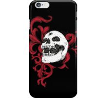 Vampire Skull With Silver Bullet Hole iPhone Case/Skin