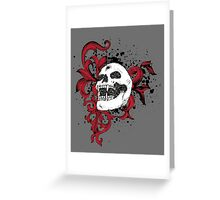 Vampire Skull With Silver Bullet Hole Greeting Card