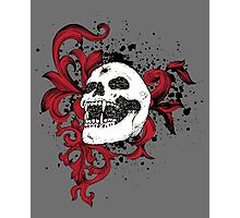 Vampire Skull With Silver Bullet Hole Photographic Print