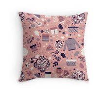 Happy Holidays Pattern Throw Pillow