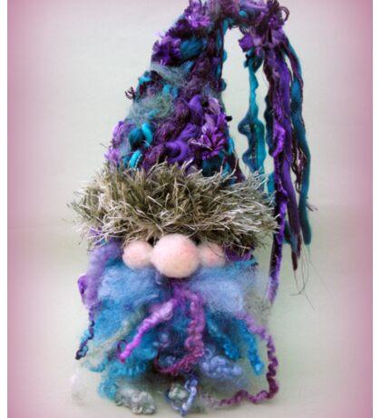 Handmade needle felted creation from Teddy Bear Orphans = Gnoah Gnome Sticker