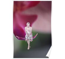 Girl on a flower miniature photography Poster