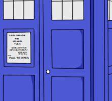tardis doctor who Sticker