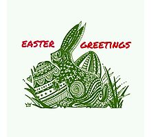 Easter Bunny Easter Greetings Photographic Print