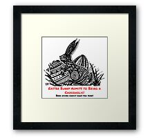 Easter Bunny Is A Chocoholic Framed Print