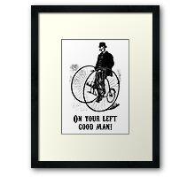 Gentleman Passing Framed Print
