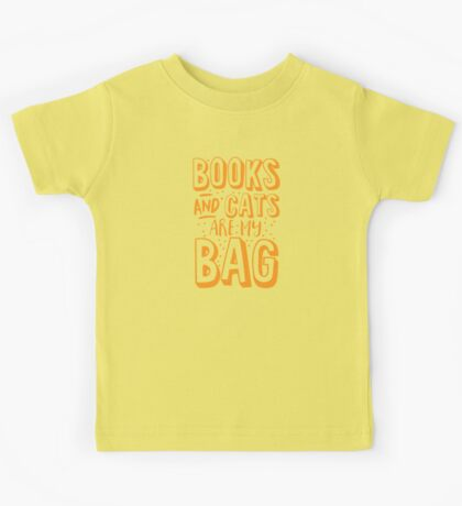 BOOKS AND CATS are my BAG Kids Tee