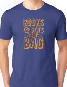 BOOKS AND CATS are my BAG Unisex T-Shirt