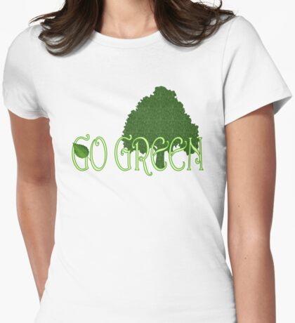 Go Green Womens Fitted T-Shirt