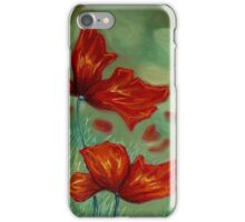 Flowing Red Poppy iPhone Case/Skin