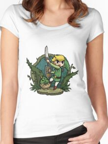 Zelda Attack... Women's Fitted Scoop T-Shirt