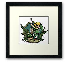 Zelda Attack... Framed Print