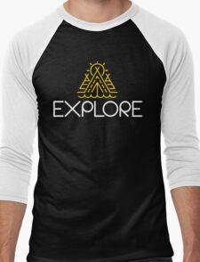 EXPLORE Funny Shirt Men's Baseball ¾ T-Shirt