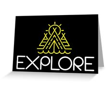 EXPLORE Funny Shirt Greeting Card