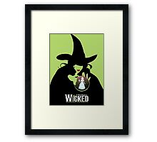 Wicked Broadway Musical Wizard Of Oz T-Shirt Framed Print
