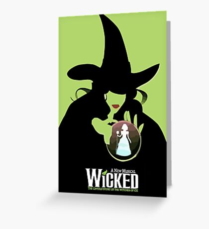 Wicked Broadway Musical Wizard Of Oz T-Shirt Greeting Card