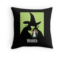 Wicked Broadway Musical Wizard Of Oz T-Shirt Throw Pillow