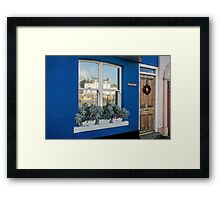 Quayside Cottage Reflections Framed Print