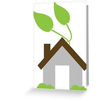 Eco-house Greeting Card