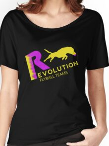 Revolution,flyball pink n yellow Women's Relaxed Fit T-Shirt