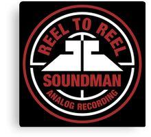 Reel To Reel Soundman Canvas Print