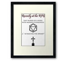 Recently at the RPG Framed Print