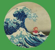 Ponyo and The Great Wave off Kanagawa VINTAGE One Piece - Short Sleeve