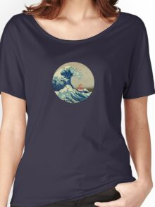 Ponyo and The Great Wave off Kanagawa VINTAGE Women's Relaxed Fit T-Shirt