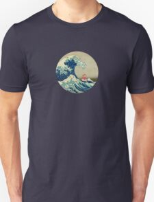 Ponyo and The Great Wave off Kanagawa VINTAGE Unisex T-Shirt
