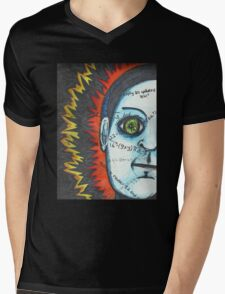 Eye Robot Mens V-Neck T-Shirt