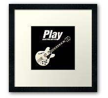 Play Electric Guitar (White) Framed Print