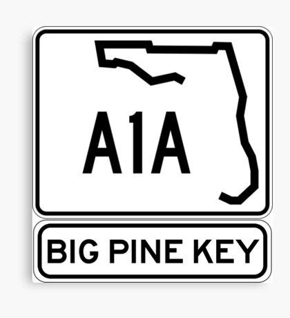 A1A - Big Pine Key Canvas Print