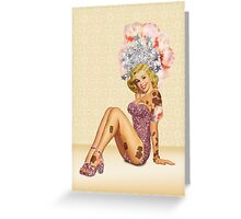 Showgirl Pin-up Greeting Card