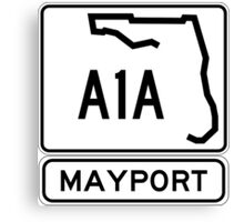 A1A - Mayport, Florida - Sun and Fun Canvas Print