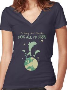 Thanks for the fish! Women's Fitted V-Neck T-Shirt